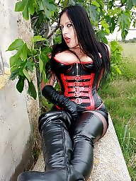 Boots, Latex, Leather, Femdom, Boot, Milf leather