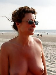Vacation, Mature beach, Beach, Beach mature, Mature boobs, Horny