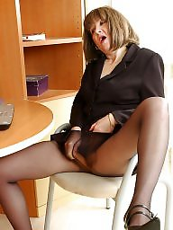 Nylon, Mature nylon, Mature legs, Nylon mature, Stocking mature, Leggings