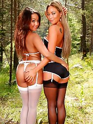 Stockings, Wood, Woods, Nylon stockings