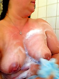 Shower, Hot wife, Mature shower
