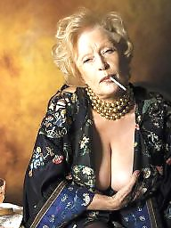 Smoking, Smoke, Mature smoking, Voyeur mature