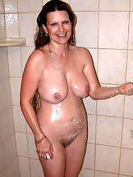 Tits, Shower, Girlfriend, Wives, Milf tits, Showers