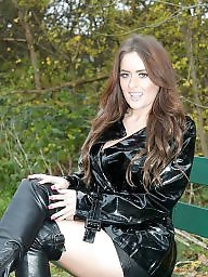 Leather, Skirt, Upskirts, Leather skirt, Skirts, Milf upskirt