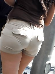 Teen ass, Big butt, Hidden, Short, Shorts, Butt
