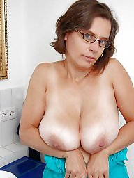 Glasses, Cream, Mature porn, Porn, Mature big boobs, Mature glasses