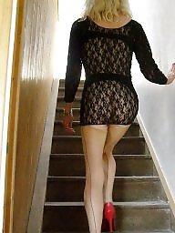 High heels, Heels, Upskirt stockings, Tights, High, Tight