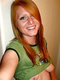 Nipple, Cute, Redhead tits