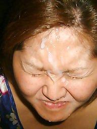 Creampie, Asian milf, Facials, Milf facial, Milf blowjob, Milf asian