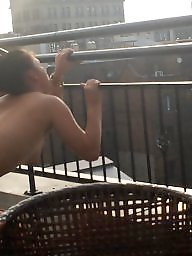 Fucking, Couples, Couple, Balcony, Couple amateur, Public fuck