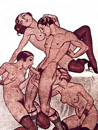 Drawing, Drawings, Draw, Erotic, Vintage drawing