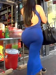 Fat, Dress, Candid, Dressed, Huge ass, Huge