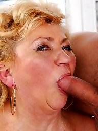 Grannies, Oral, Granny blowjob, Mature facial, Mature blowjob, Facials