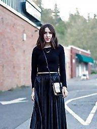 Leather, Skirt, Skirts, Leather skirt