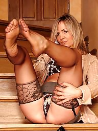 Lady, Stocking tops, Lace