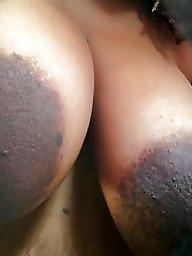 Ebony, Ebony bbw, Areola, Big nipples