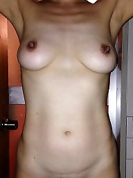 Saggy, Saggy tits, Big tits, Wife, Big nipples, Hard