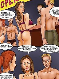 Comic, Comics, Interracial comics, Interracial comic, Big boob