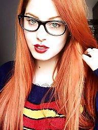 Glasses, Girl, Teen tits