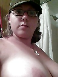 Big tits, Glasses, Topless, Glass