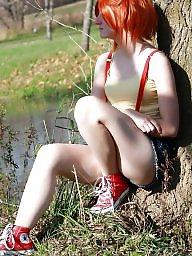 Redhead, Cosplay, Teen boobs