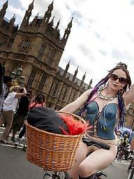 Riding, Naked, Ride, Bike, Public voyeur