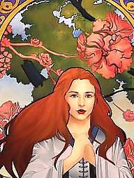 Cartoon, Cartoons, Redhead, Redheads, Princess