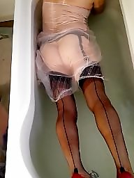 Vintage, Wet, Vintage amateur, Slips, Wetting