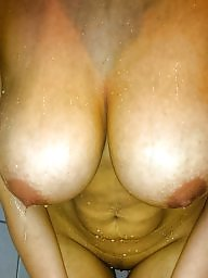 Shower, Wifes tits, In the shower, Wife tits, Big tit wife, Amateur boobs