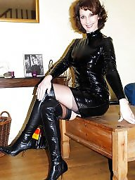 Leather, Latex, Pvc, My mom, Mature pvc, Mature latex