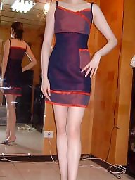 Clothed, Clothes, Store, Asian milf, Clothing, Asian amateur