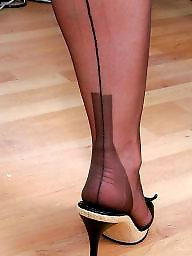Nylon feet, Feet, Mature nylon, Heels, Mature stockings, Mature feet
