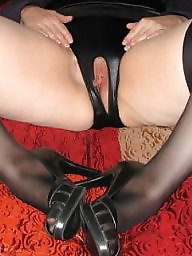 Spread, Bbw stockings, Shaved, Bbw spread