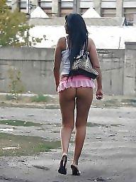 Prostitute, Upskirts, Street, Girl, Prostitution, Candids