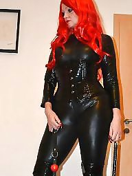 Leather, Mistress, Suck, Long nails, Redheads, Nails