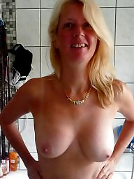 Shower, Bathroom, Mature wife