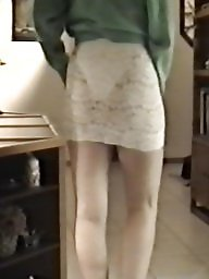 Tight, Tights, Skirt, Lace, White, Slutty
