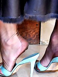 Feet, Nylon feet, Mature feet, Heels, Stockings, Mature heels
