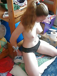 Tied, Girlfriend, Wife flashes, Blindfold