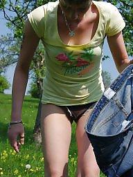 Outdoor, German, Milf outdoor, German milf