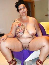Heels, Red, Bbw milf, Tattoo
