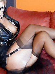 Leather, Pvc, Milf leather, Femdom milf