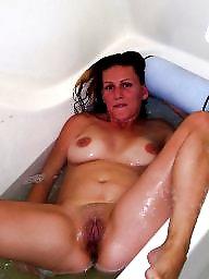 Bathroom, Mature shower, Mature wife, Wife mature