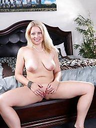Bed, Blonde milf