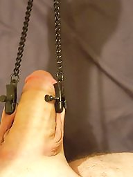 Clit, Torture, Upskirt, Clamps, Nipple clamp, Wig