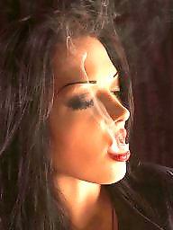 Smoking, Blonde, Lipstick, Smoke, Redheads