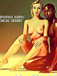 Interracial captions, Femdom