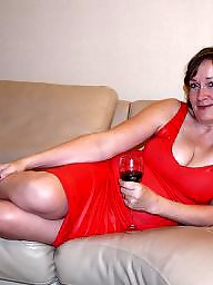 Dressed, Red, Mature porn, Mature dressed, Mature dress