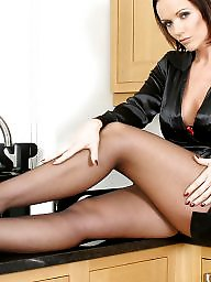 Kitchen, Upskirt stockings, Ladies