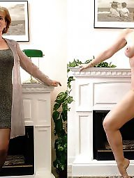Dressed undressed, Mature amateur, Dressed, Undressing, Mature dress, Undressed